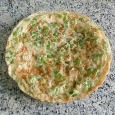 蛋清尖椒鸡蛋饼