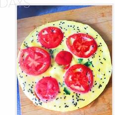 菠菜西红柿鸡蛋饼
