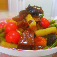 红烧肉炒年糕