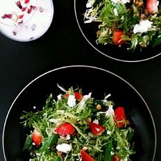 秋葵草莓沙拉