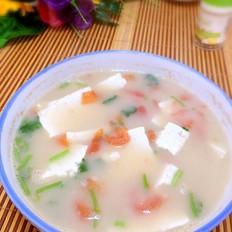 豆腐西红柿鱼汤