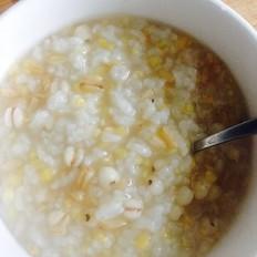 红糖片燕麦玉米渣薏米大米粥