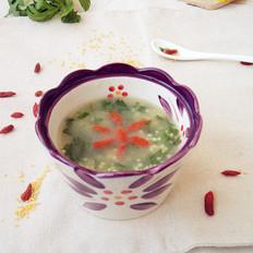 芹叶小米粥