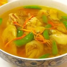 甜豆虫草花煲鸡汤