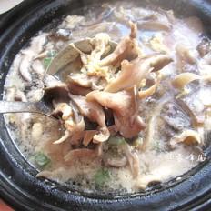 蘑菇鸡蛋肉丝汤
