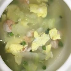 白菜虾仁豌豆汤