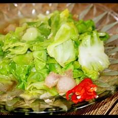 猪油渣卷心菜