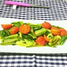 西红柿炒莴笋叶