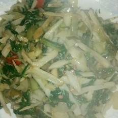 小菜炒藕丝