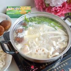 猪蹄菌菇浓汤火锅