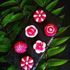 莲蓉花朵和果子