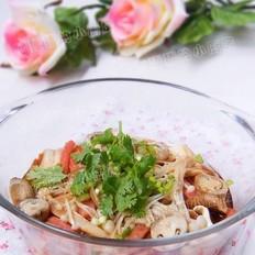 蘑菇叮豆腐