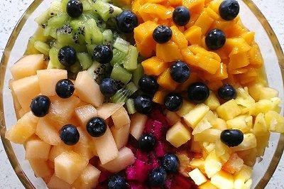 冰淇淋般的水果豆花
