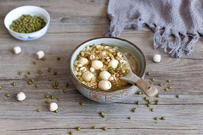 莲子薏仁绿豆汤