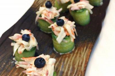 蟹棒蜜桃黄瓜沙拉低脂轻食减肥餐