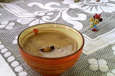 红豆腊肉粽子粥