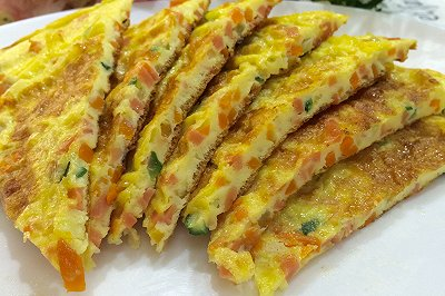 (早餐)香菇黄瓜鸡蛋饼