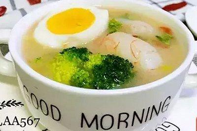 虾仁蔬菜疙瘩汤