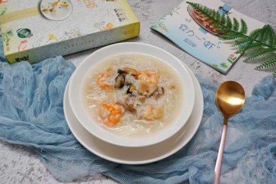 虾仁瑶柱蚝豉瘦肉粥
