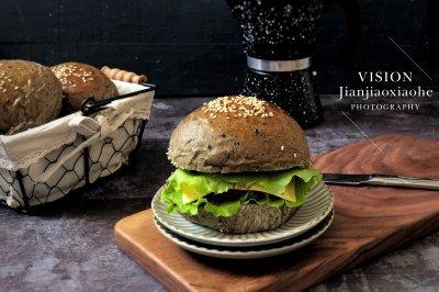 黑芝麻汉堡包