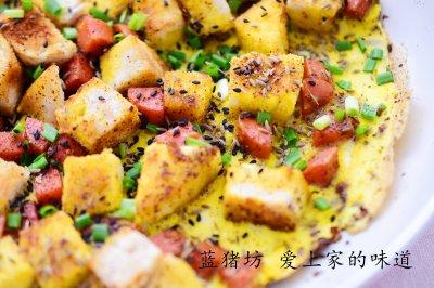 炒烤火腿馒头煎饼