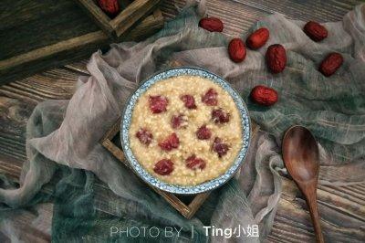 新手菜红枣小米粥