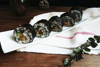 黑芝麻奥尔良鸡肉寿司