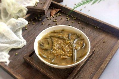 消暑佳品:陈皮海带绿豆沙