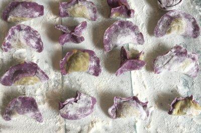 紫薯菠菜饺子