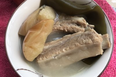 苹果海带煲排骨汤