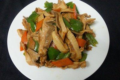 青椒炒肚片