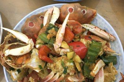 辣椒炒小螃蟹