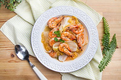白菜烧大虾