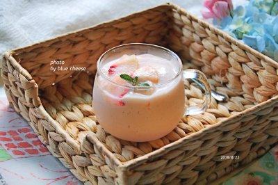 水蜜桃酸奶果饮