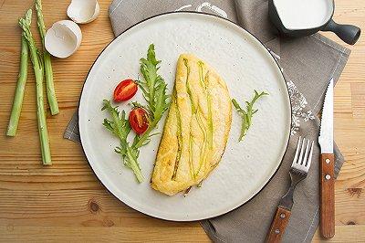 芦笋舒芙蕾煎蛋饼