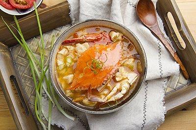 蟹味疙瘩汤