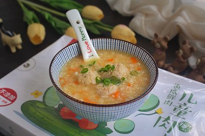 胡萝卜山药肉丸粥