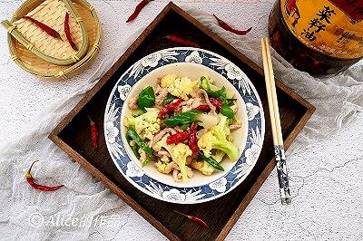 花菜小炒肉丝