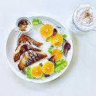 香橙法国吐司的早餐