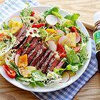 牛排果蔬沙拉丘比沙拉汁青梅口味