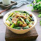 家常菜蒜苗豆豉五花肉