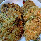 鸡肉豆腐蔬菜饼