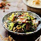 小白菜炒蘑菇