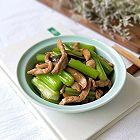 西芹香菇炒肉丝