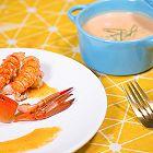 蓝虾浓汤+香煎蓝龙