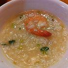 香菇芹菜鲜虾粥