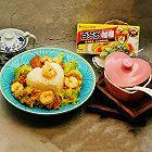 虾球面筋咖喱饭