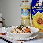 香菇山药炒鸡胸肉片