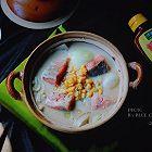 奶油三文鱼味噌汤锅