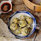 蒸薯粉青菜丸